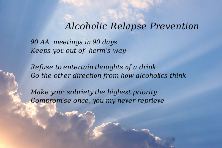 alcoholic relapse prevention