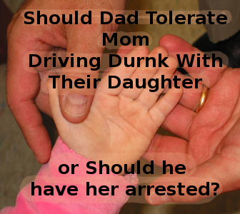 mom driving drunk with child