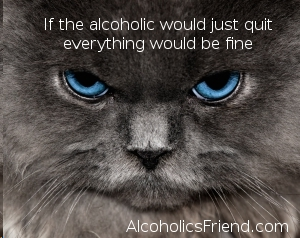 Blue Eyed Cat With Alcoholism Problems